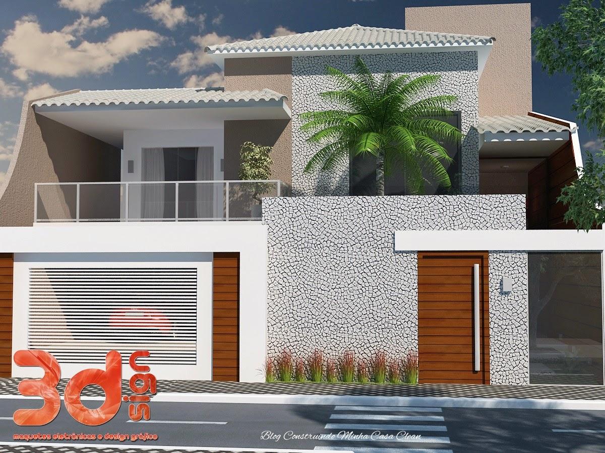 Pin muros e fachada modernas projetos casas imveis cultura for Fachadas modernas