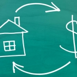 Real Estate and Cash concept