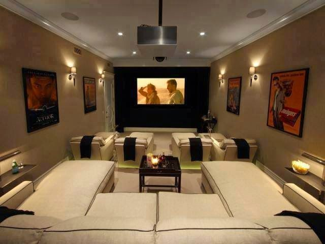 Sala de cinema em casa conforto im veis cultura mix for House plans with media room